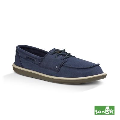 SANUK 水洗復古綁帶休閒鞋-男款(深藍色)