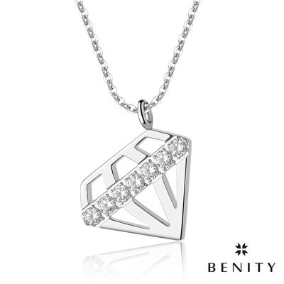 BENITY 燦耀心鑽 白鋼色 316白鋼/西德鋼 八心八箭cz美鑽 女手鍊