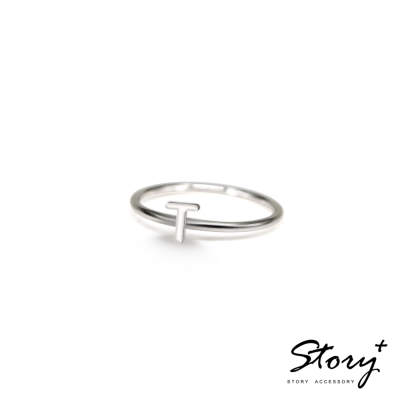 STORY ACCESSORY-字母系列-字母T 純銀戒指