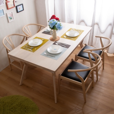 簡約風 珀西餐桌+美爾頓餐椅-150x91x76cm