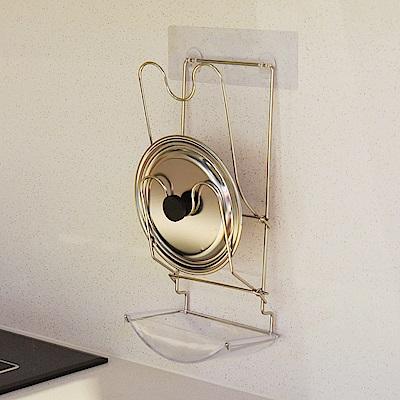 樂貼工坊 不鏽鋼鍋蓋架/瀝水槽/微透貼面(2入組)-16.5x9.5x36