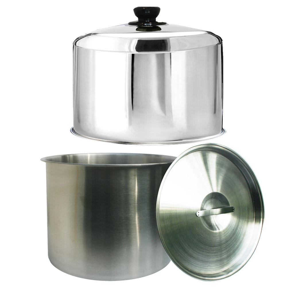 天蠶304不鏽鋼雞精桶+加高電鍋蓋超值組(10人份電鍋適用)