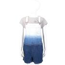 MARC BY MARC JACOBS 藍色漸層設計連身吊帶褲