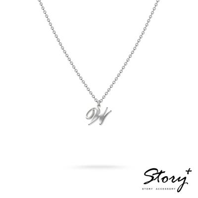 STORY ACCESSORY-字母系列-字母W 純銀項鍊