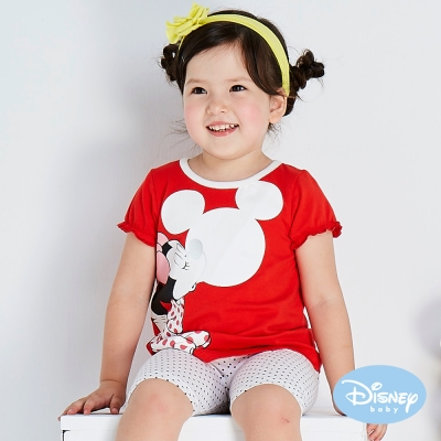 Disney baby 米妮吹泡泡短袖上衣 玫瑰紅