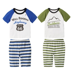 baby童衣 短袖純棉居家印花男童套裝 60154
