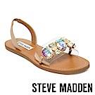 STEVE MADDEN-MELINE 寶石鑲嵌一字帶涼鞋-白色