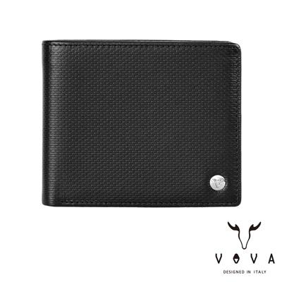 VOVA-BRICK-布瑞克系列4卡磚紋皮夾-黑色