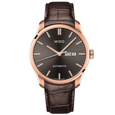 MIDO 美度 BELLUNA II 經典機械腕錶-金x棕/42mm