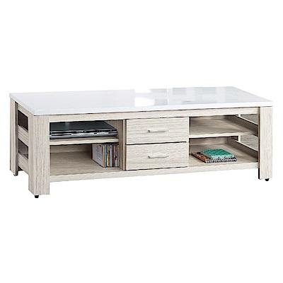 品家居 里亞5尺白梣木紋長櫃/電視櫃-150x40.5x47cm免組