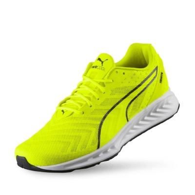 PUMA IGNITE 3 PWRCOOL男性慢跑運動鞋-警示黃