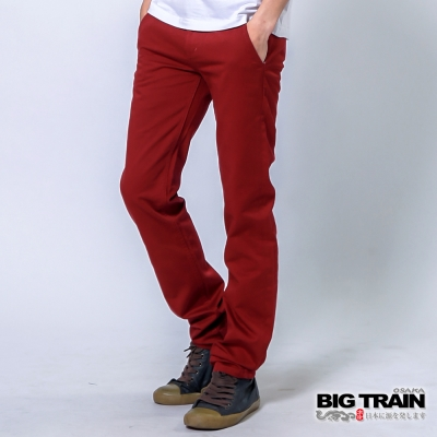 BIG-TRAIN-赤青工作褲-男-紅色