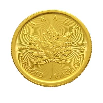 楓葉金幣-加拿大2018楓葉金幣 (1/10盎司)