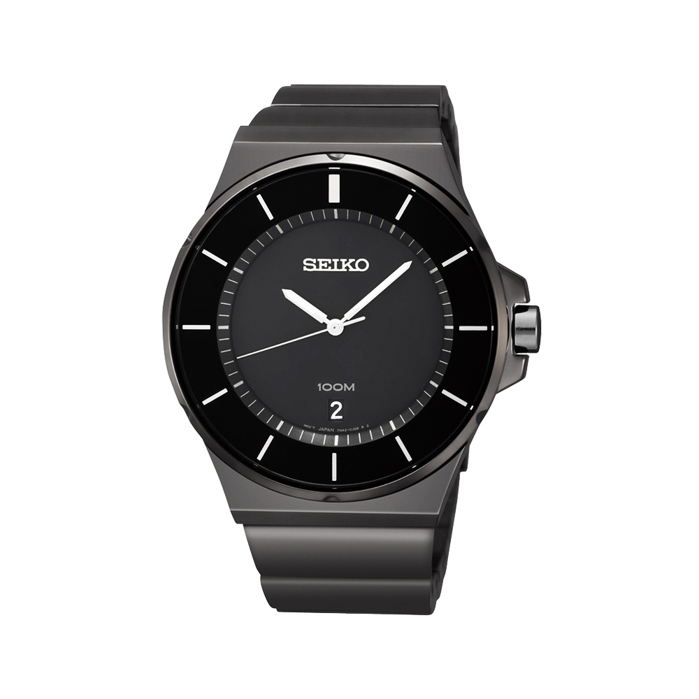 SEIKO 雅爵紳士時尚腕錶(SGEG21P1)-IP黑/42mm