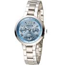 WICCA 英倫少女時尚腕錶(BH7-512-71)-藍/34mm