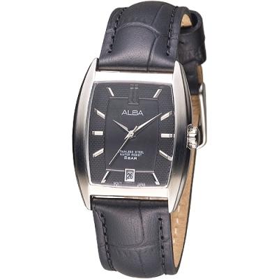 ALBA 波西米亞時尚皮革女錶-黑(AG8471X1)/26x35mm