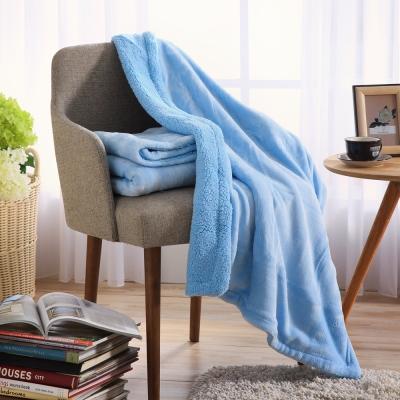 IN-HOUSE-法蘭羊羔絨童毯(藍色)