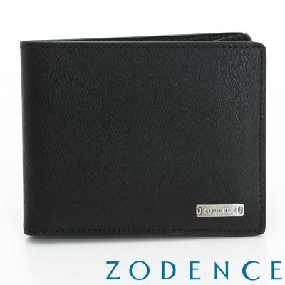 ZODENCE MAN 風範系列三摺短夾-黑