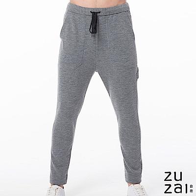 zuzai 自在暖煦系列 極輕羊毛休閒褲-男-灰色
