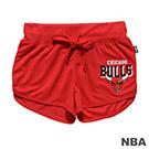 NBA-芝加哥公牛隊印花透氣休閒短褲-紅 (女)