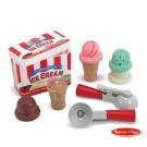 美國瑪莉莎 Melissa & Doug 木製玩食趣 - 磁力冰淇淋甜筒組