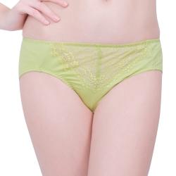 思薇爾 星采系列M-XXL蕾絲中腰三角褲(嫩芽綠)