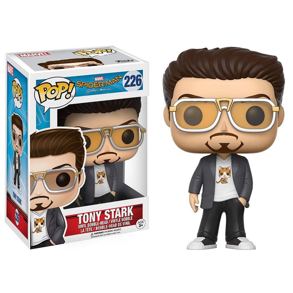 Funko POP!系列 Q版 蜘蛛人 返校日 穿著小貓T恤的東尼史塔克 搖頭公仔