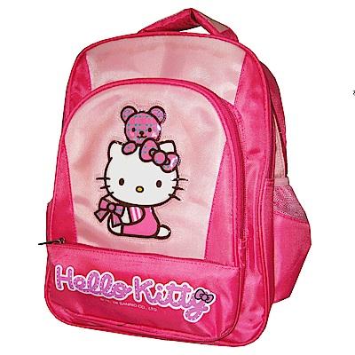 Hello Kitty 凱蒂貓 時尚雙層書背包