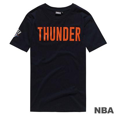 NBA-奧克拉荷馬雷霆隊字母印花短T-深藍 (男)