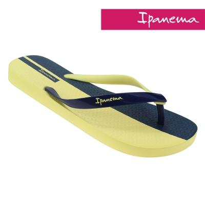 IPANEMA 雙色夏日人字拖鞋-黃色/藍色