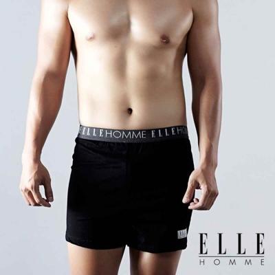 ELLE HOMME 熱賣款-簡單素材襯托出型男素面平口褲-超值3件組-804