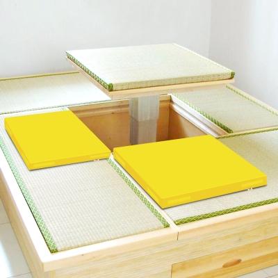 超厚6cm環保PU皮革 和室坐墊 -粉黃2片/組 LOG樂格