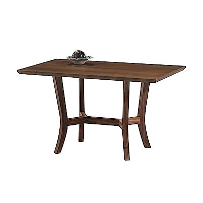 品家居 克塔5尺木紋餐桌(二色可選)-150x80x75cm免組