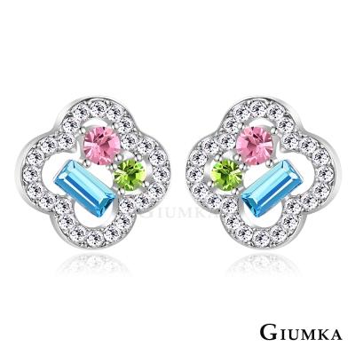 GIUMKA 閃耀之花 耳環-銀色B