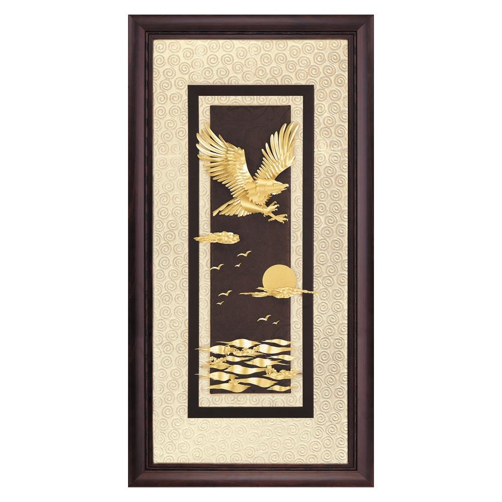 鹿港窯-立體金箔畫-大展鴻圖(高昇系列42x81cm)
