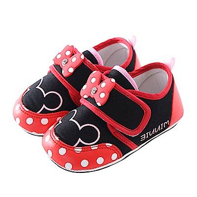 迪士尼米妮魔鬼貼止滑鞋 黑紅 sk0297 魔法Baby