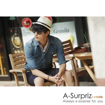 A-Surpriz 時尚雅痞風格紳士帽(卡其)
