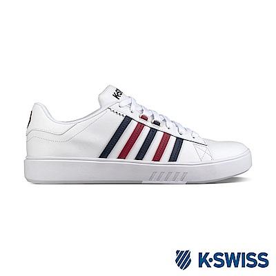 K-Swiss Pershing Court CMF休閒運動鞋-女-白/藍/紅