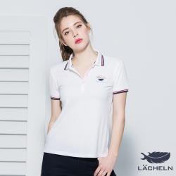 【LACHELN】Coolmax涼爽抗UV彈力POLO衫-白(L72W910)