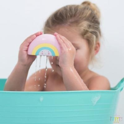 A Little Lovely Company 荷蘭 造型洗澡玩具 粉紅彩虹款