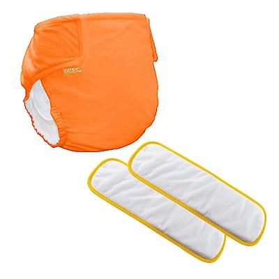 〔可透舒〕夜用體驗組--DB500無扣式單一尺寸布尿布(橘色款)