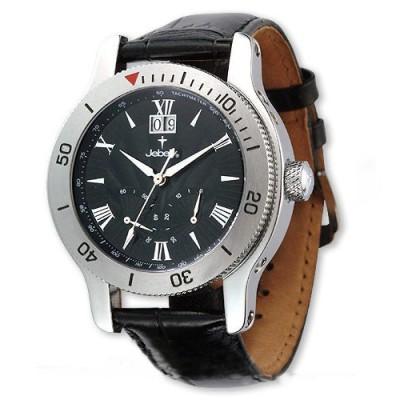 Jebely瑞士機械錶-神秘黑森林系列-飛返式秒針機械錶-黑/41mm