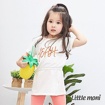 Little moni 歡樂YEAH長版上衣 (2色可選)