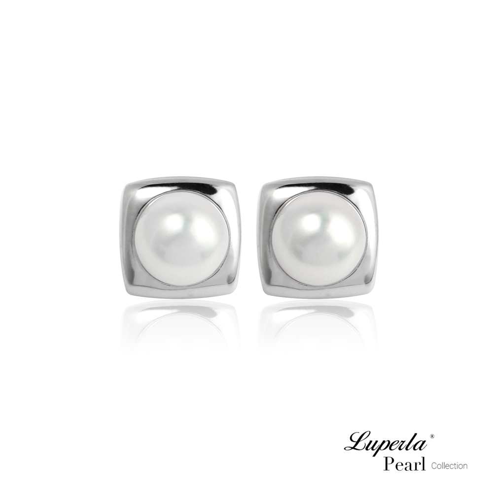 大東山珠寶 淡水珍珠純銀晶鑽耳環 閃爍臻愛