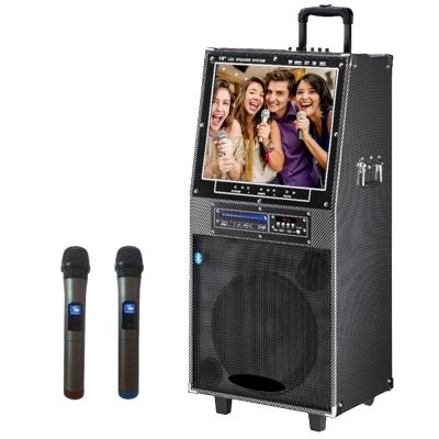 大聲公無線式18吋DVD伴唱型多功能行動音箱 /行動KTV