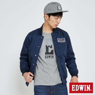 EDWIN-棒球舖棉外套-男-丈青