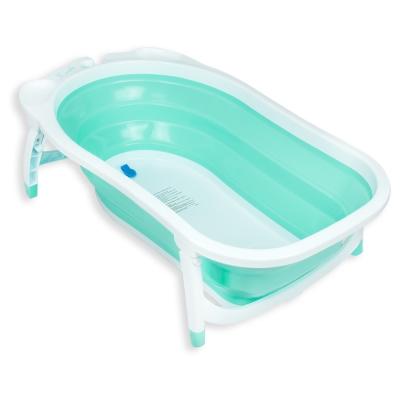 Karibu凱俐寶 時尚折疊式嬰幼浴盆 薄荷綠