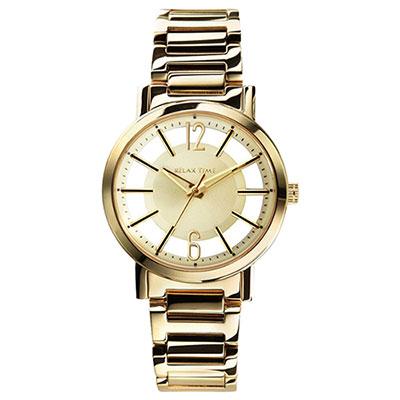 RELAX TIME RT56 輕熟風格系列鏤空腕錶-金/36mm