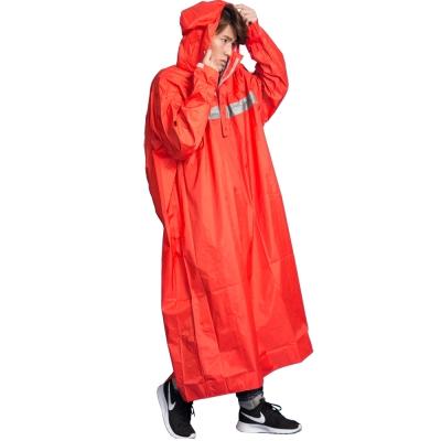 頂峰360度全方位太空背包雨衣-長版