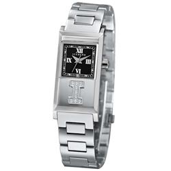 ICEBERG 冰山系列LOGO真鑽時尚腕錶-黑/20x36mm